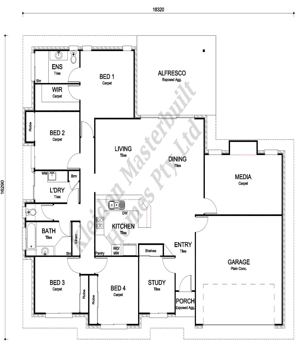 Lot 34 Black Beauty Court, Kensington Floorplan