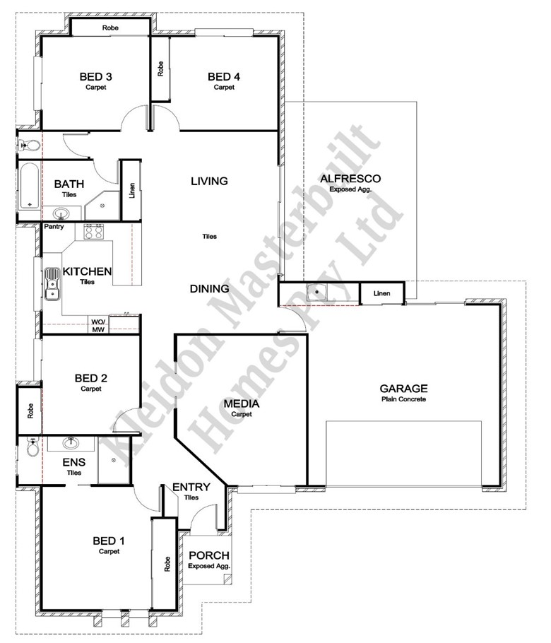 Lot 97 Sorrento Drive, Bargara Floorplan
