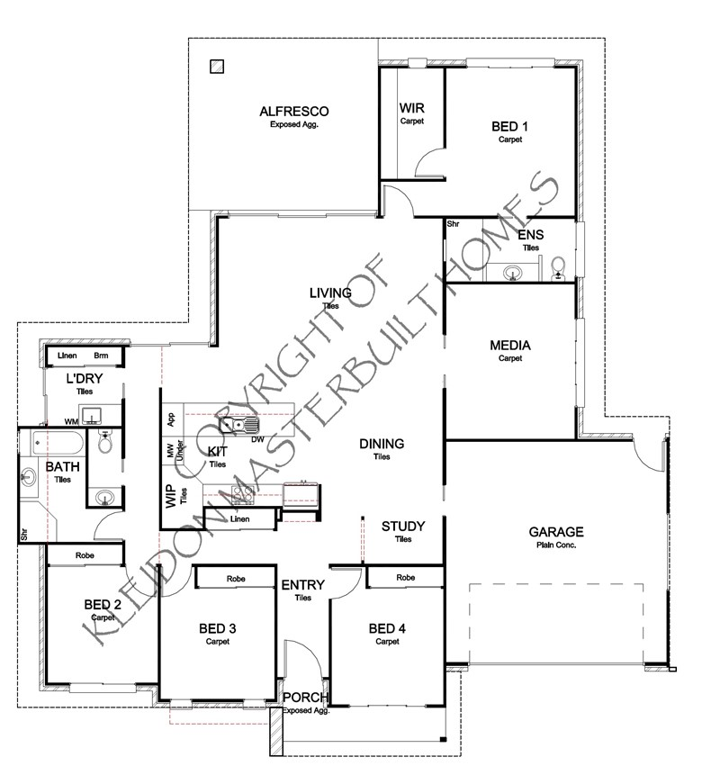 Bargara Rise Estate Floorplan
